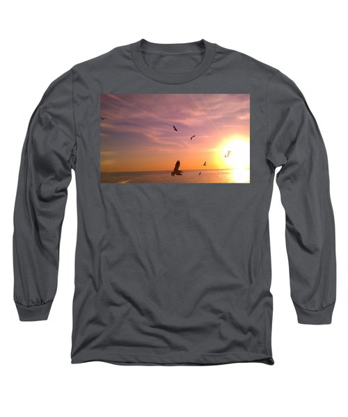 Flight Into The Light Long Sleeve T-Shirt by Chris Tarpening