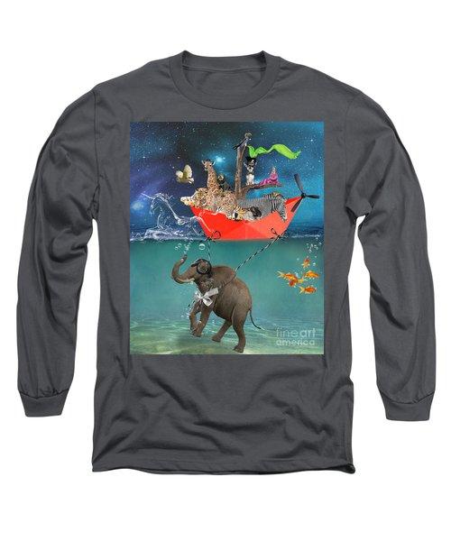 Floating Zoo Long Sleeve T-Shirt