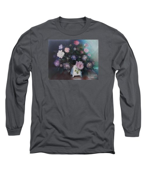 Floral Still Life Long Sleeve T-Shirt by Marlene Book