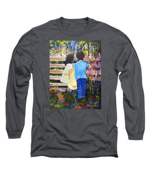 Flowers For Her Long Sleeve T-Shirt by Pamela  Meredith