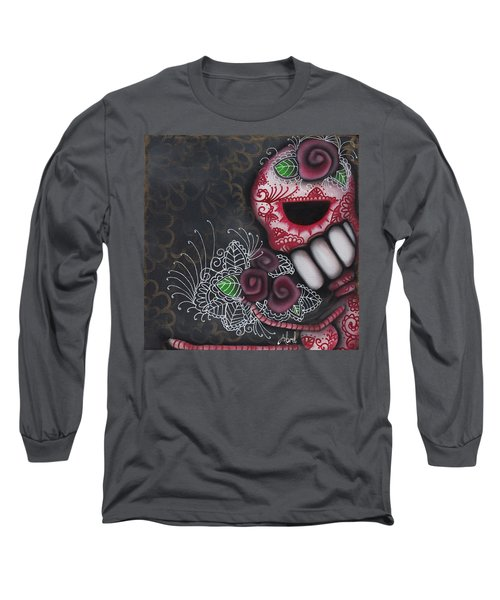 Flowers For The Dead II Long Sleeve T-Shirt by Abril Andrade Griffith