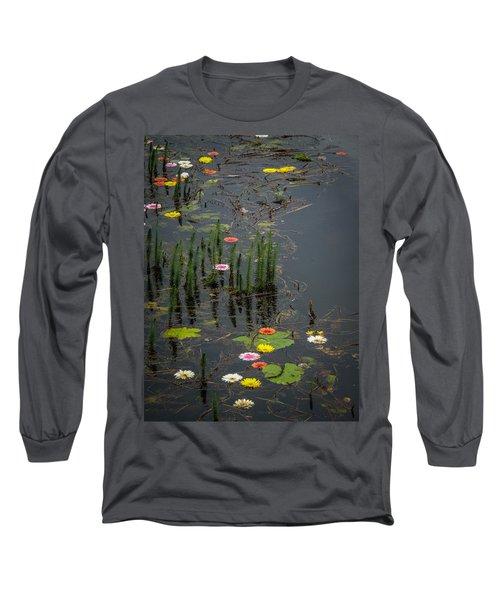Flowers In The Markree Castle Moat Long Sleeve T-Shirt