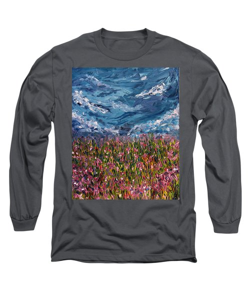 Long Sleeve T-Shirt featuring the painting Flowers Of The Field by Meaghan Troup
