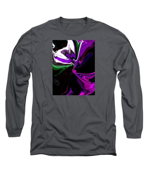 Purple Rain Homage To Prince Original Abstract Art Painting Long Sleeve T-Shirt by RjFxx at beautifullart com