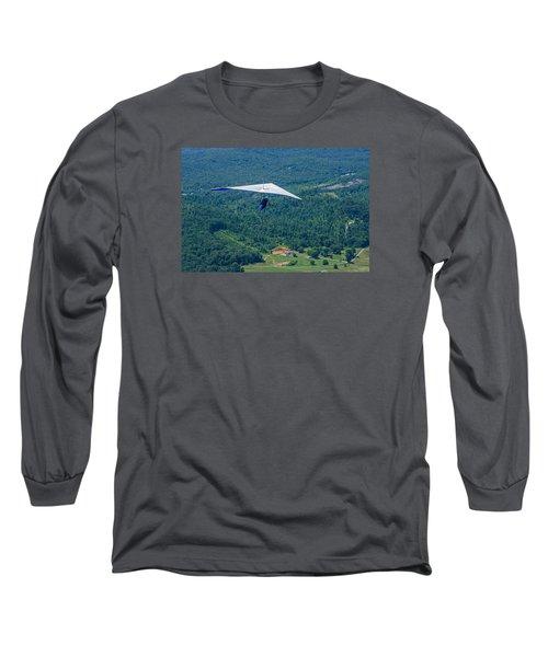 Long Sleeve T-Shirt featuring the photograph Flyin High by Susan  McMenamin