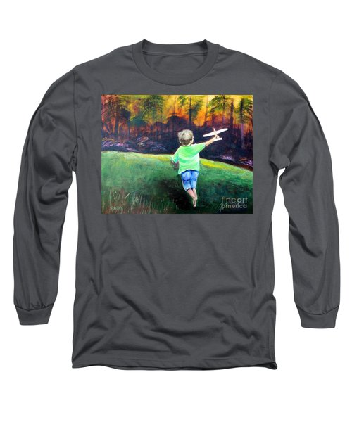 Flying High Long Sleeve T-Shirt by Patricia Piffath