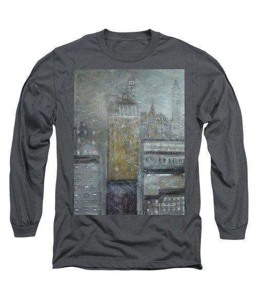 Fog Covered City Long Sleeve T-Shirt