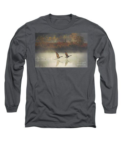 Foggy Autumn Morning Long Sleeve T-Shirt