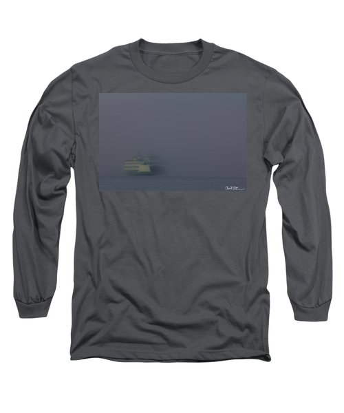 Foggy Ferry Ride Long Sleeve T-Shirt by Charlie Duncan
