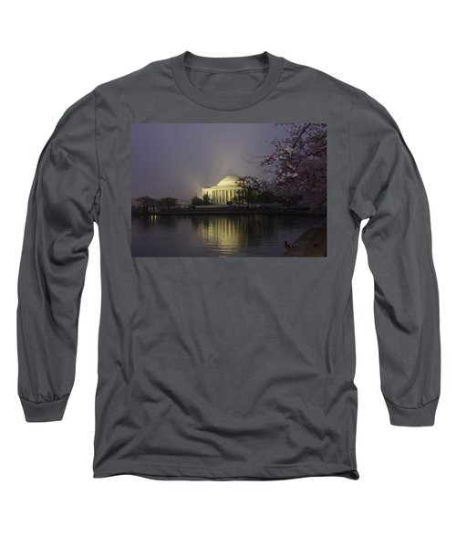 Foggy Morning At The Jefferson Memorial 1 Long Sleeve T-Shirt