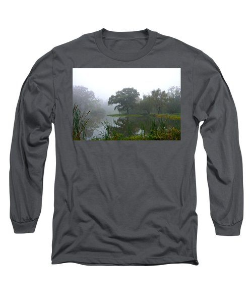 Foggy Morning At The Willows Long Sleeve T-Shirt