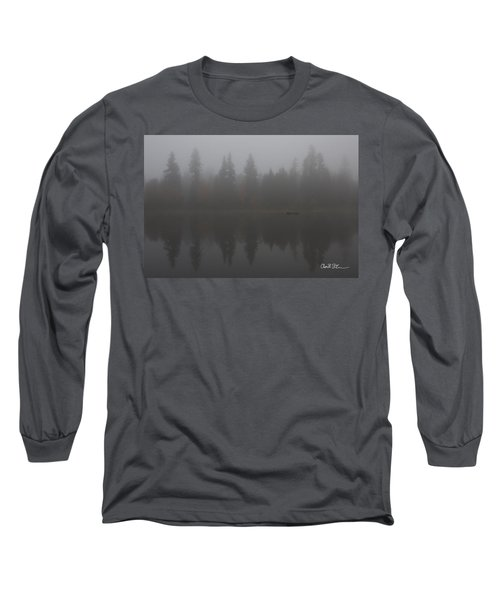 Foggy Morning On The Lake Long Sleeve T-Shirt by Charlie Duncan