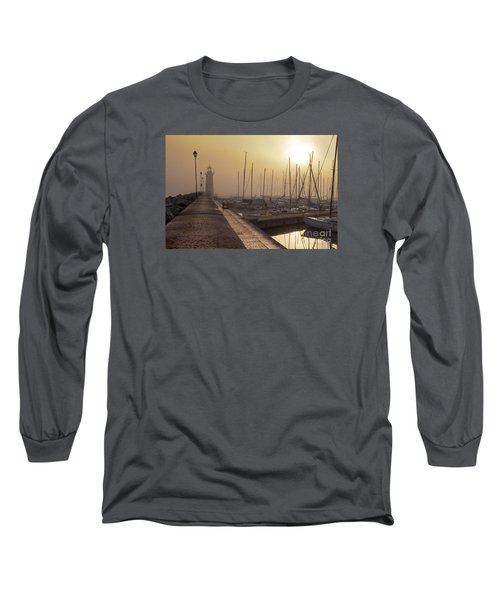 Long Sleeve T-Shirt featuring the photograph Foggy Morning by Simona Ghidini
