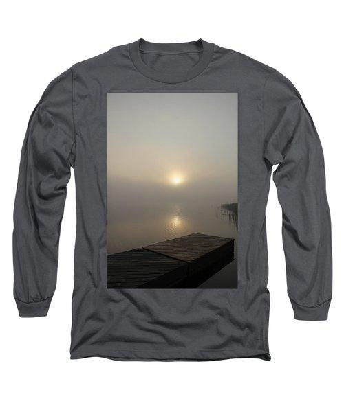 Foggy Reflections Long Sleeve T-Shirt by Debbie Oppermann