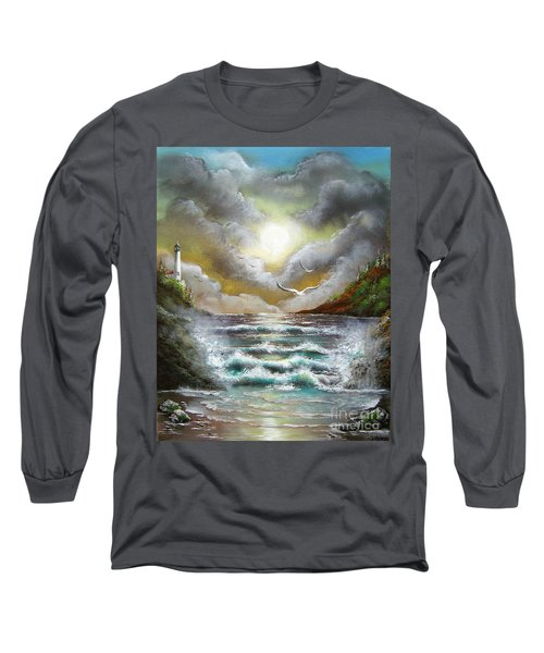 Long Sleeve T-Shirt featuring the painting Follow The Wind by Patrice Torrillo