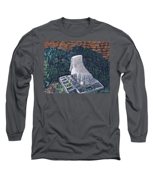 Foot Statue-caesaria Long Sleeve T-Shirt