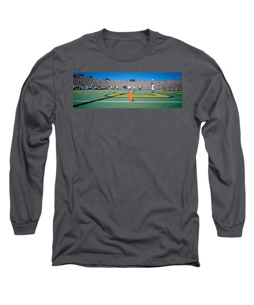 Football Game, University Of Michigan Long Sleeve T-Shirt by Panoramic Images