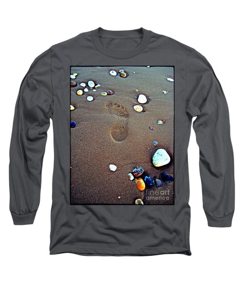 Footprint Long Sleeve T-Shirt by Nina Ficur Feenan