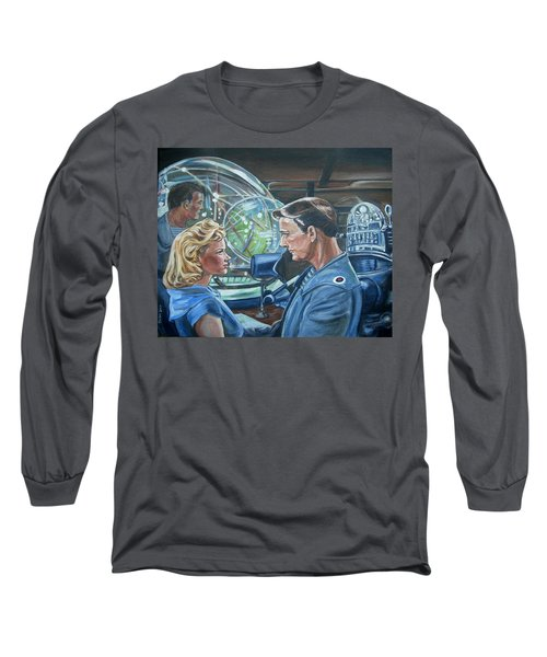 Long Sleeve T-Shirt featuring the painting Forbidden Planet by Bryan Bustard