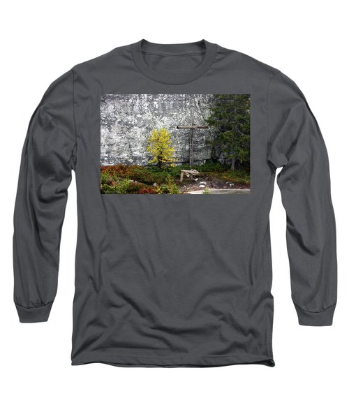 Long Sleeve T-Shirt featuring the photograph Forest Altar by Leena Pekkalainen