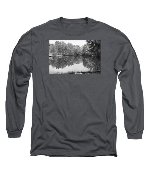Long Sleeve T-Shirt featuring the photograph Forest Snow by Miguel Winterpacht