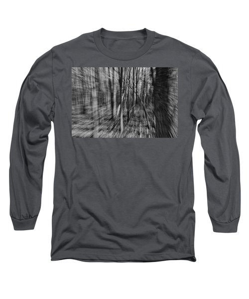 Forest Time B.w Long Sleeve T-Shirt