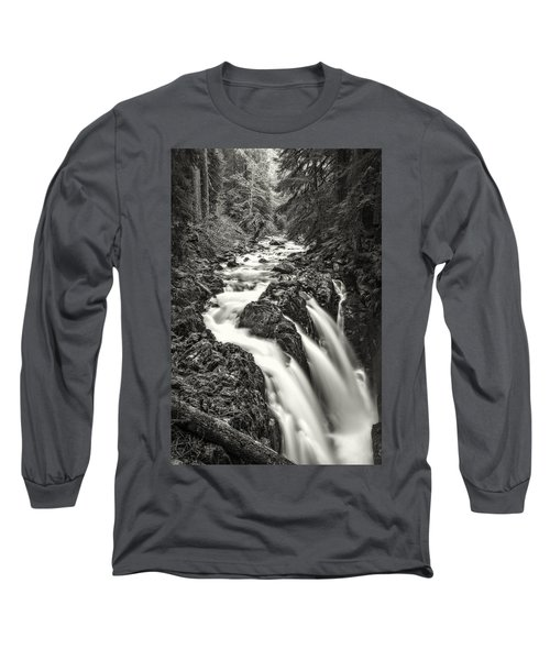 Forest Water Flow Long Sleeve T-Shirt by Ken Stanback