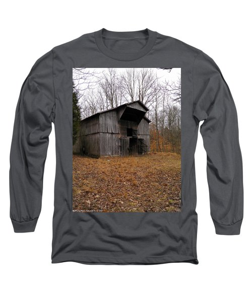 Long Sleeve T-Shirt featuring the photograph Forgotten Barn by Nick Kirby