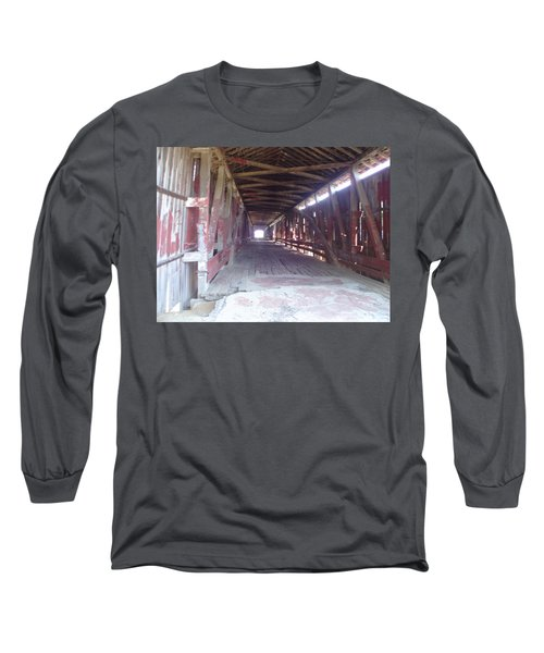 Long Sleeve T-Shirt featuring the photograph Forgotten Tunnel by Fortunate Findings Shirley Dickerson