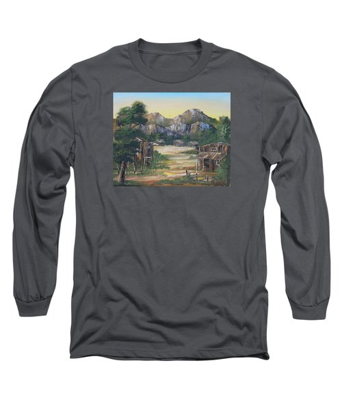 Forgotten Village Long Sleeve T-Shirt by Remegio Onia