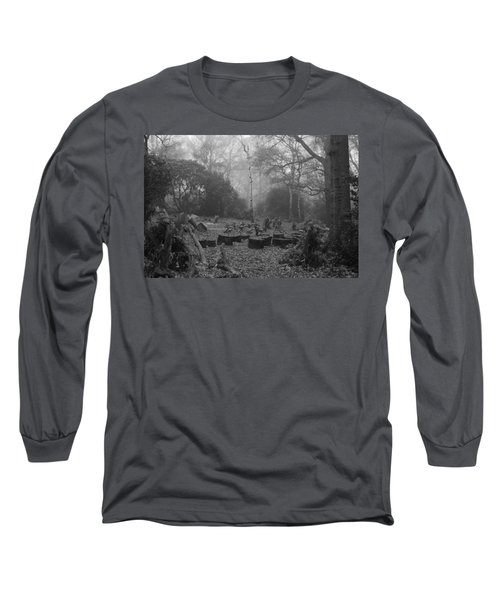 Long Sleeve T-Shirt featuring the photograph Forset Trees by Maj Seda