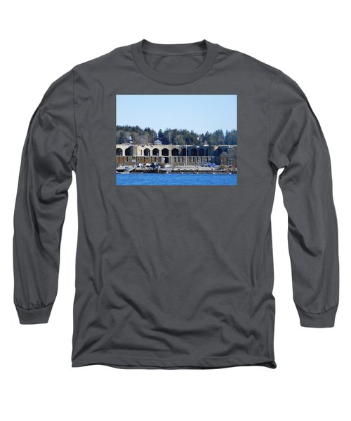 Fort Popham In Maine Long Sleeve T-Shirt by Catherine Gagne