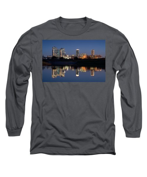 Fort Worth Skyline 020915 Long Sleeve T-Shirt