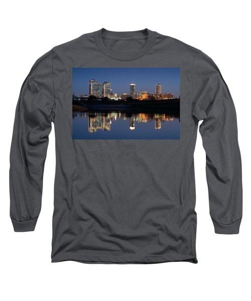 Fort Worth Skyline 020915 Long Sleeve T-Shirt