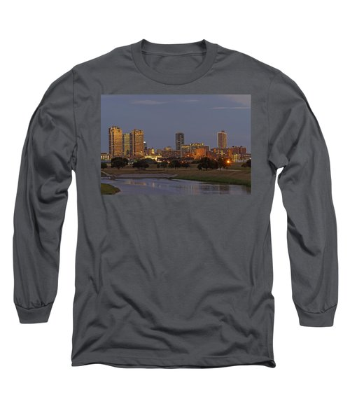 Fort Worth Skyline Golden Hour Long Sleeve T-Shirt