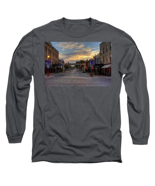 Fort Worth Stockyards Sunrise Long Sleeve T-Shirt