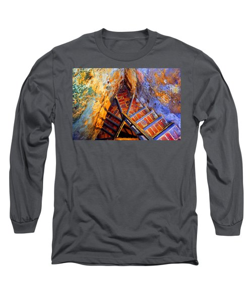 Fortress Steps Long Sleeve T-Shirt by Stephen Anderson