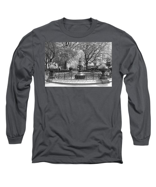 Fountain Time Long Sleeve T-Shirt by Catie Canetti