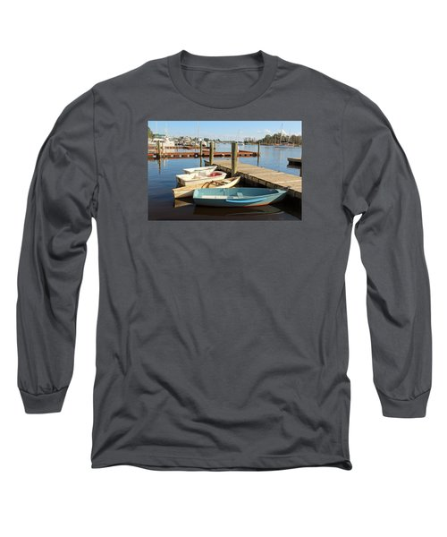 Long Sleeve T-Shirt featuring the photograph Four Boats  by Cynthia Guinn