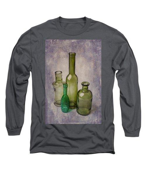 Four Green Bottles Long Sleeve T-Shirt