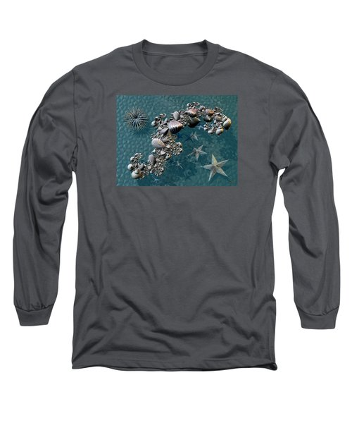 Fractal Sea Life Long Sleeve T-Shirt