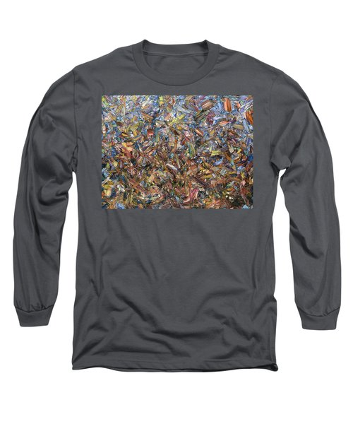 Long Sleeve T-Shirt featuring the painting Fragmented Fall by James W Johnson