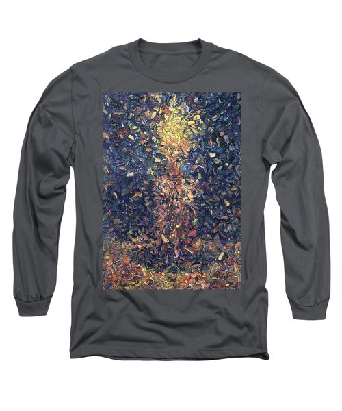 Long Sleeve T-Shirt featuring the painting Fragmented Flame by James W Johnson