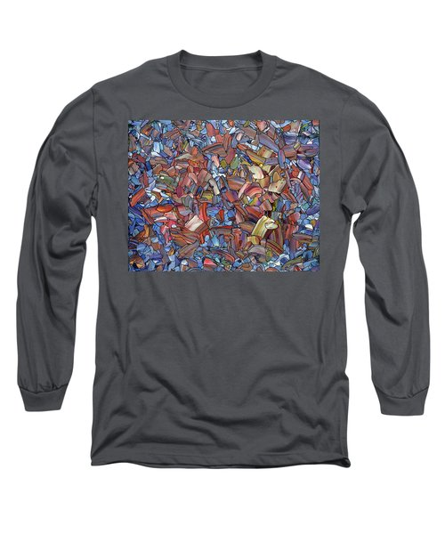 Long Sleeve T-Shirt featuring the painting Fragmented Rose by James W Johnson