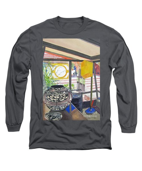 Long Sleeve T-Shirt featuring the painting Frank Lloyd Wright Taliesin West by Carol Flagg