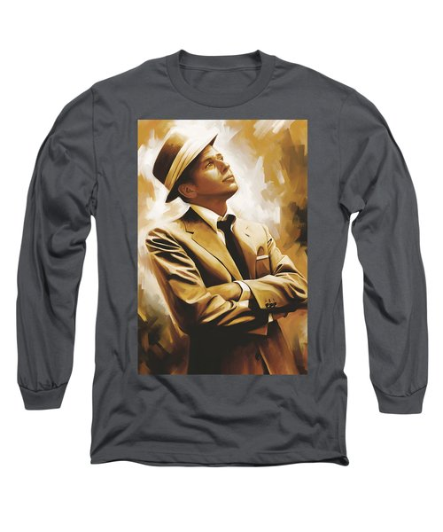 Frank Sinatra Artwork 1 Long Sleeve T-Shirt
