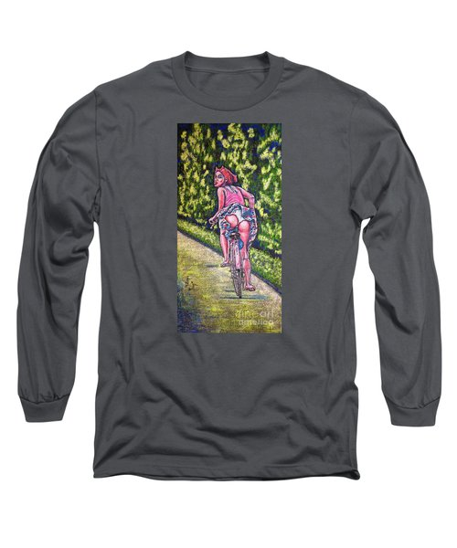 Long Sleeve T-Shirt featuring the painting Free by Viktor Lazarev