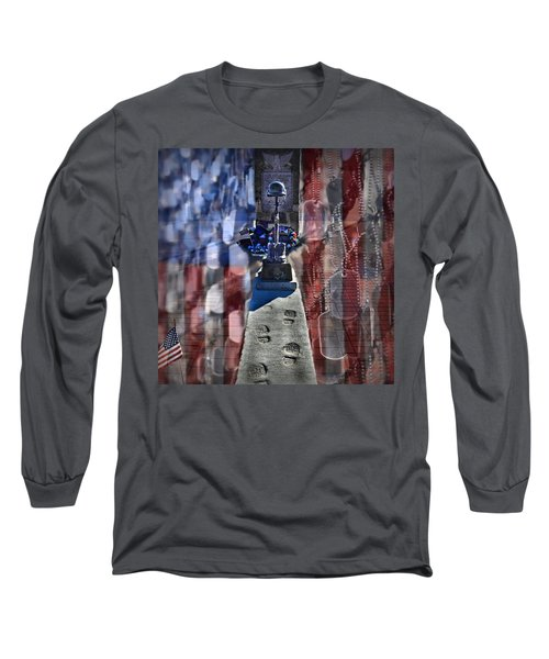 Freedom Ain't Free Long Sleeve T-Shirt by DJ Florek