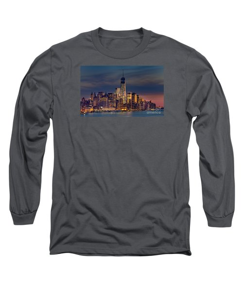 Freedom Tower Construction End Of 2013 Long Sleeve T-Shirt by Jerry Fornarotto