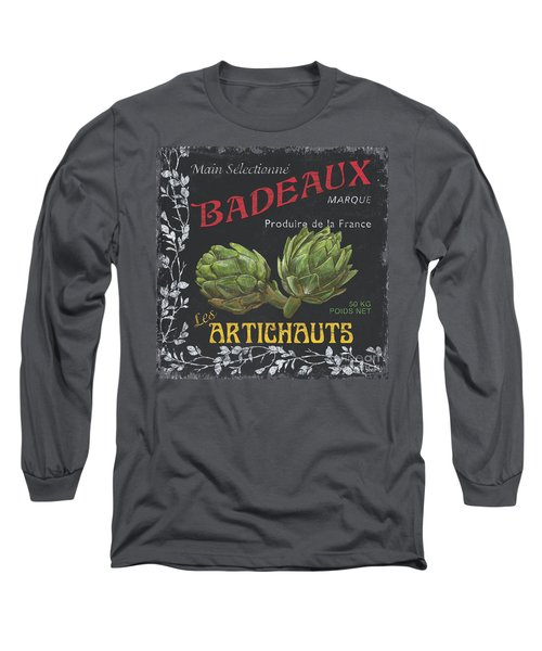 French Veggie Labels 1 Long Sleeve T-Shirt by Debbie DeWitt
